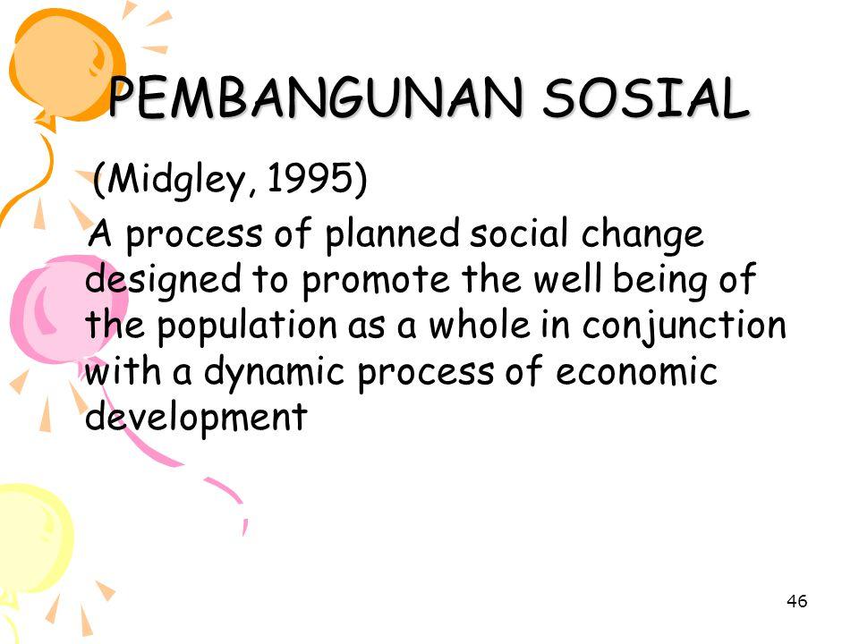PEMBANGUNAN SOSIAL (Midgley, 1995)
