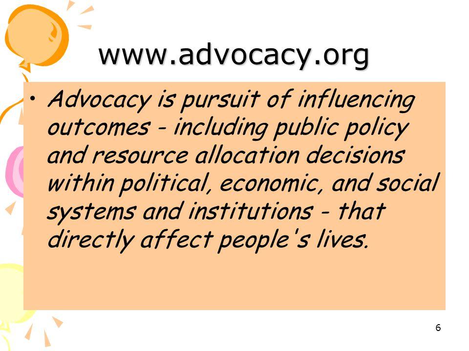 www.advocacy.org