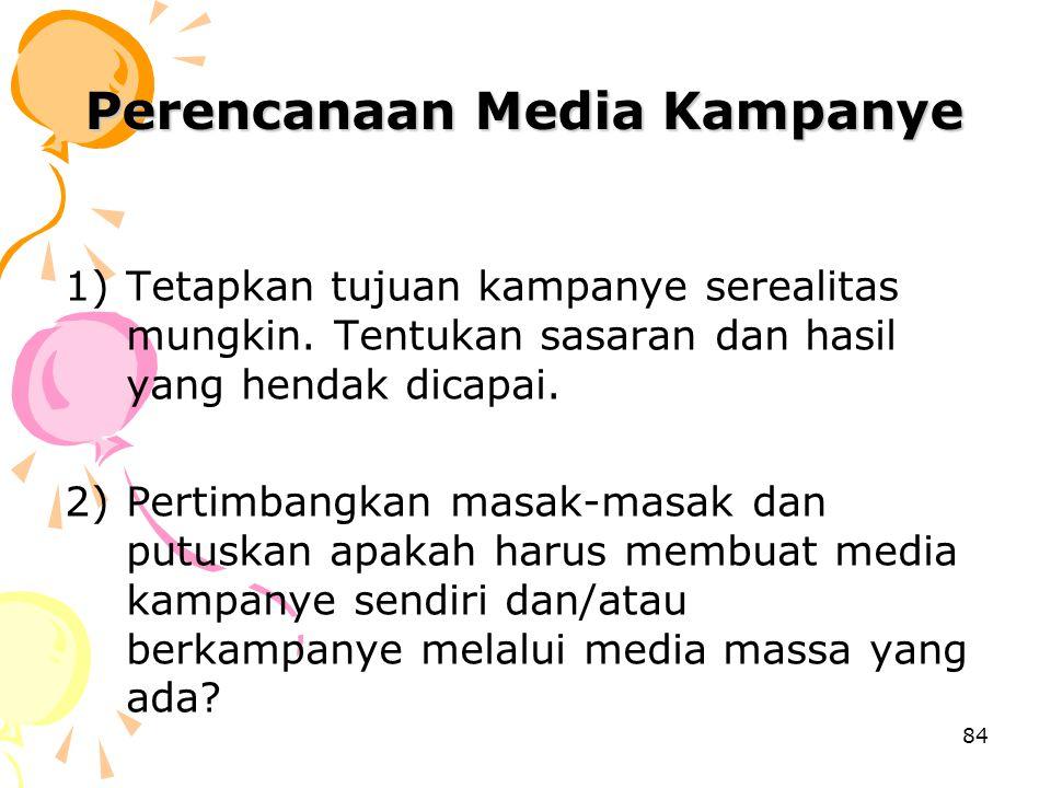 Perencanaan Media Kampanye