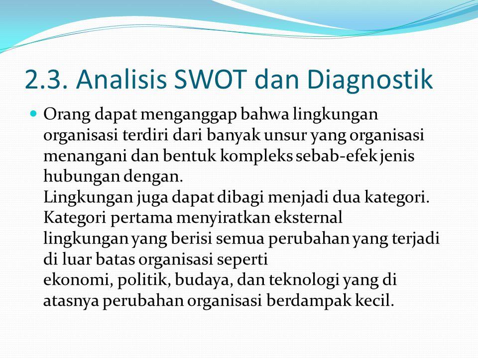 2.3. Analisis SWOT dan Diagnostik