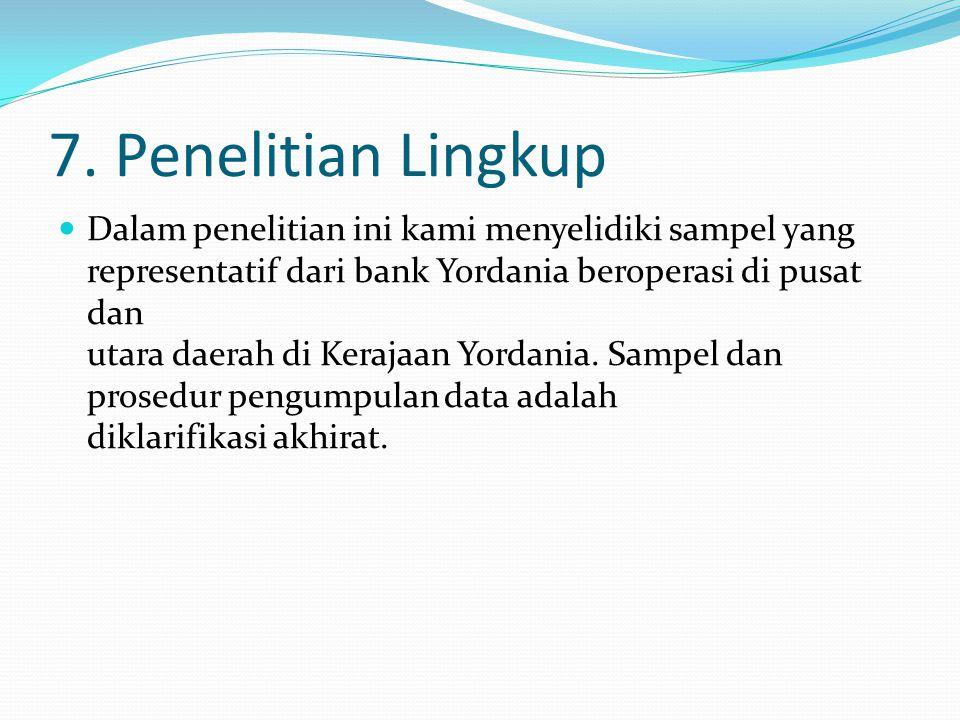 7. Penelitian Lingkup