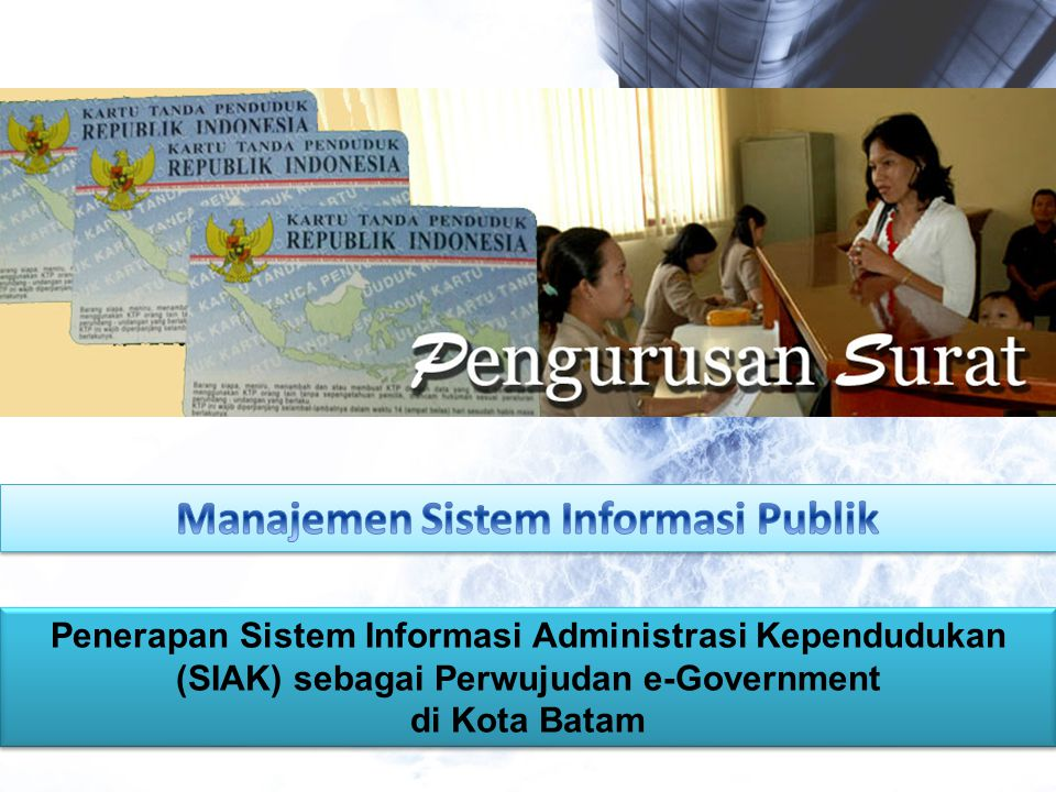 Manajemen Sistem Informasi Publik