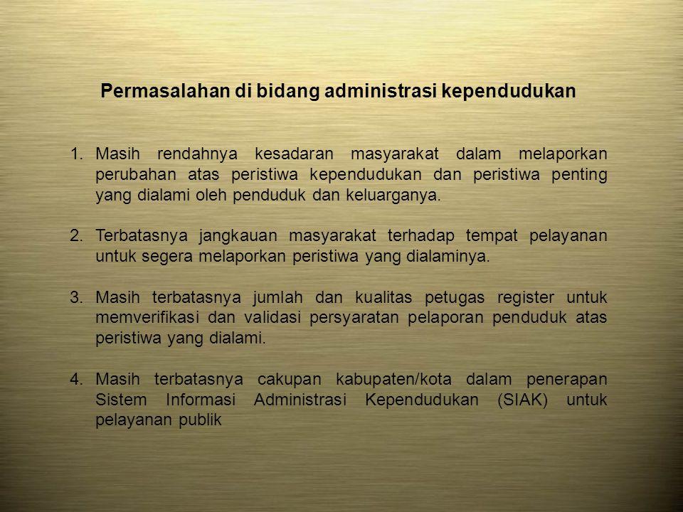 Permasalahan di bidang administrasi kependudukan