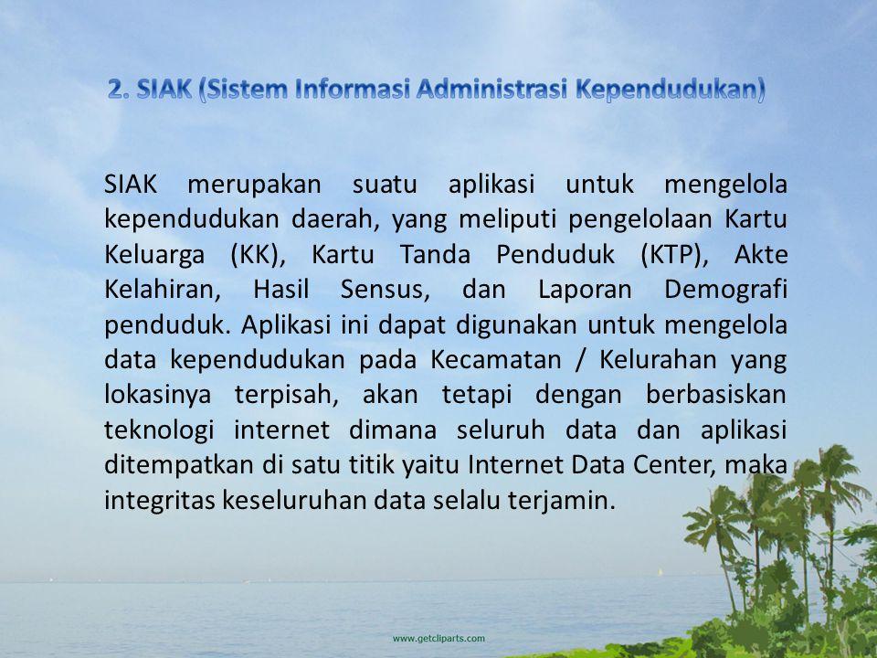 2. SIAK (Sistem Informasi Administrasi Kependudukan)