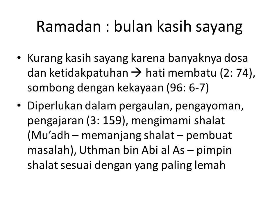 Ramadan : bulan kasih sayang