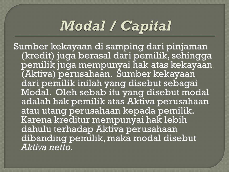 Modal / Capital