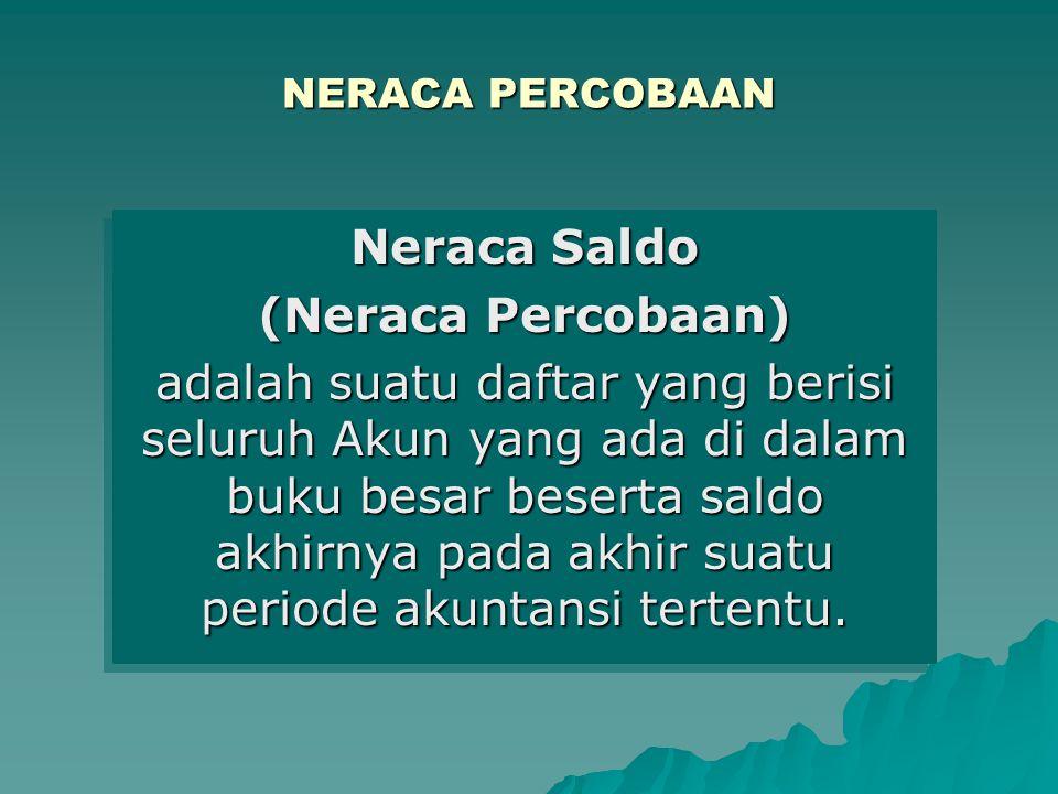 Neraca Saldo (Neraca Percobaan)