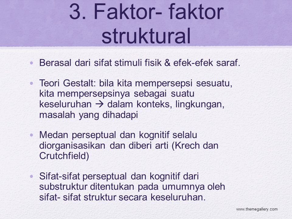 3. Faktor- faktor struktural