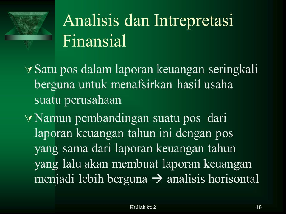 Analisis dan Intrepretasi Finansial