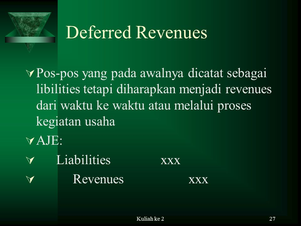 Deferred Revenues