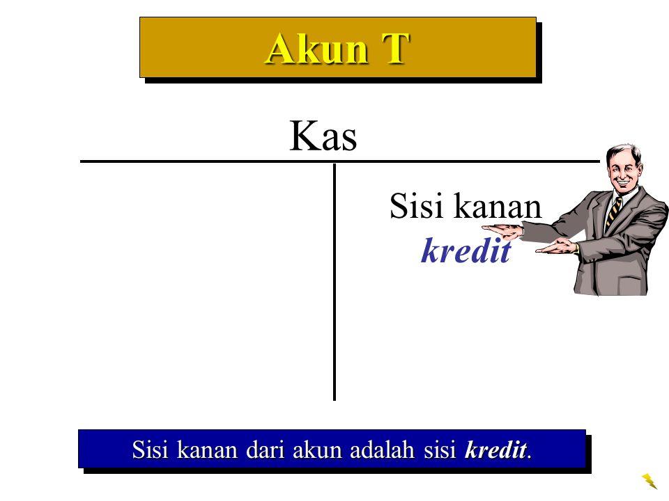 Sisi kanan dari akun adalah sisi kredit.