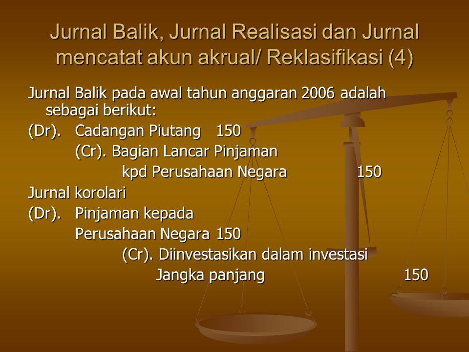 Jurnal Balik, Jurnal Realisasi dan Jurnal mencatat akun akrual/ Reklasifikasi (4)