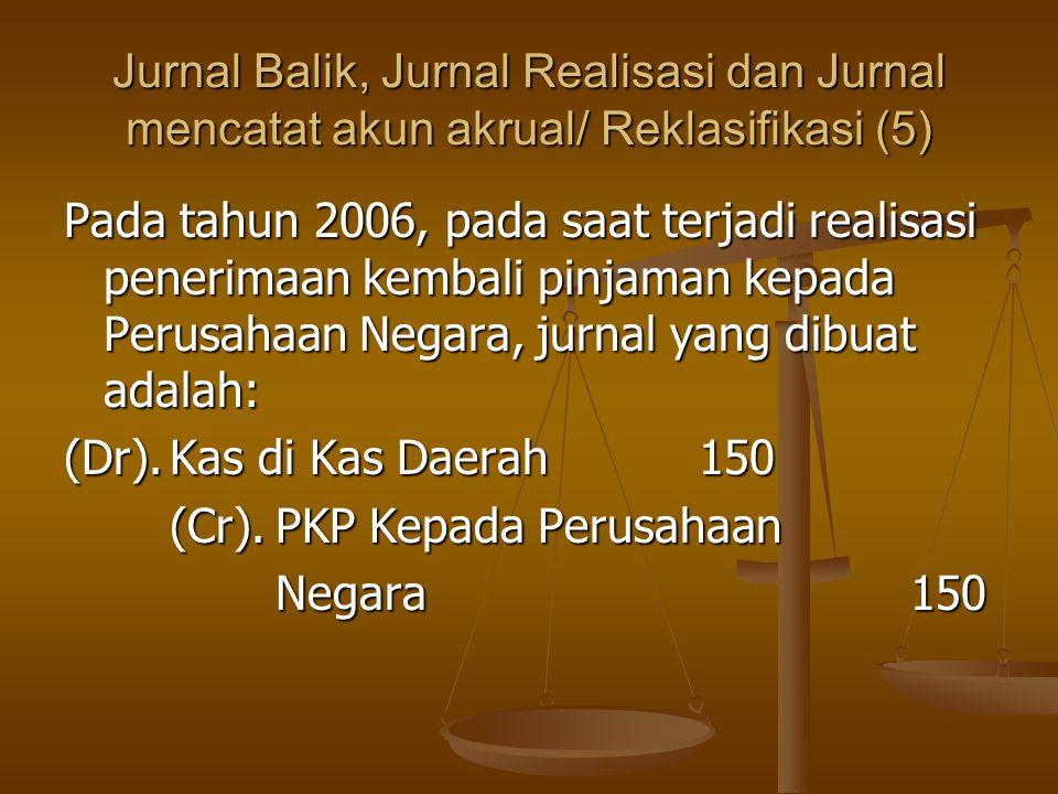 Jurnal Balik, Jurnal Realisasi dan Jurnal mencatat akun akrual/ Reklasifikasi (5)