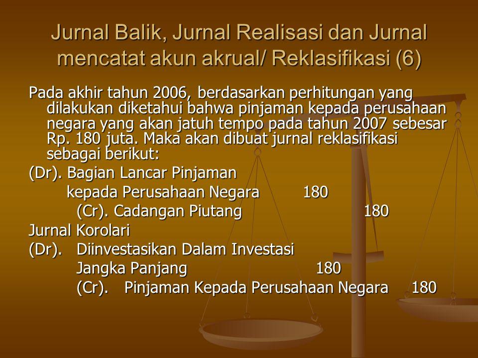 Jurnal Balik, Jurnal Realisasi dan Jurnal mencatat akun akrual/ Reklasifikasi (6)