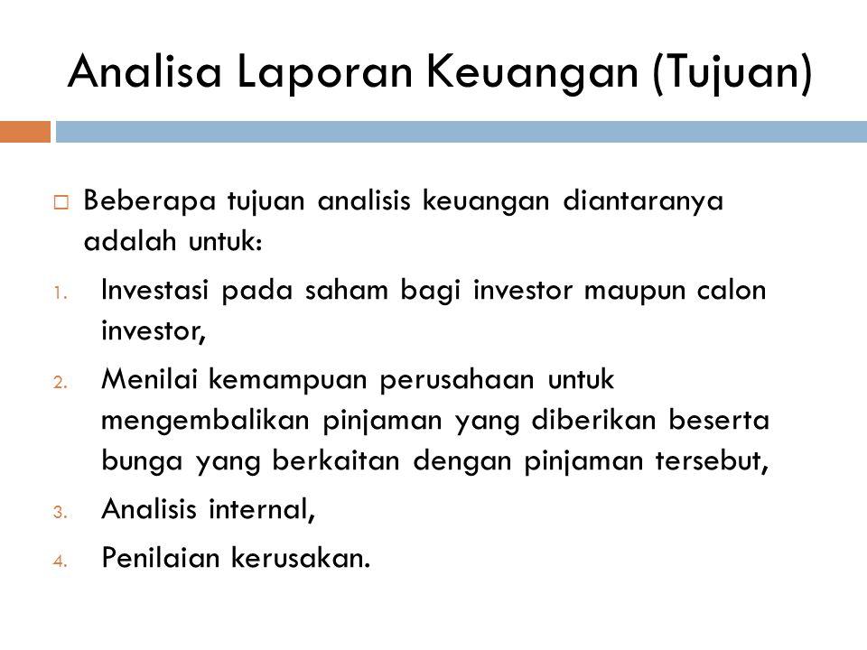 Analisa Laporan Keuangan (Tujuan)