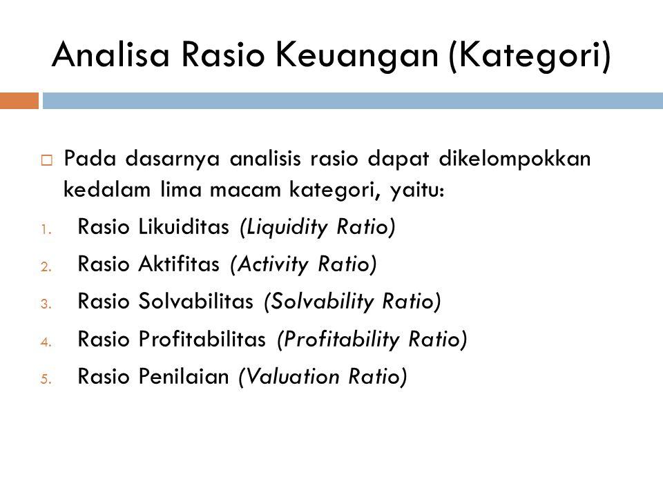 Analisa Rasio Keuangan (Kategori)