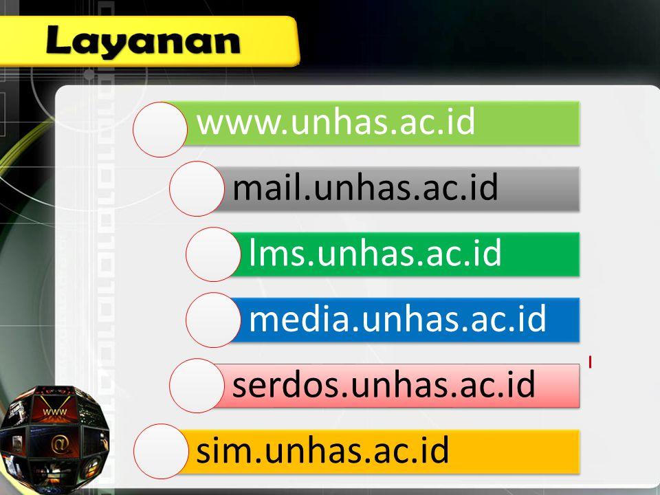 Layanan www.unhas.ac.id mail.unhas.ac.id lms.unhas.ac.id