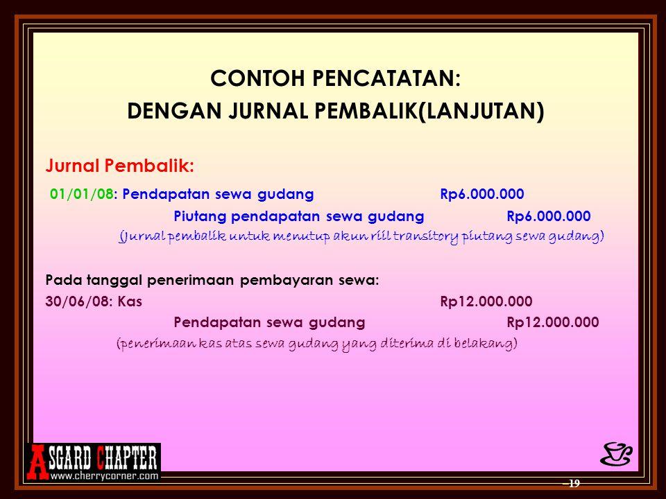 DENGAN JURNAL PEMBALIK(LANJUTAN)