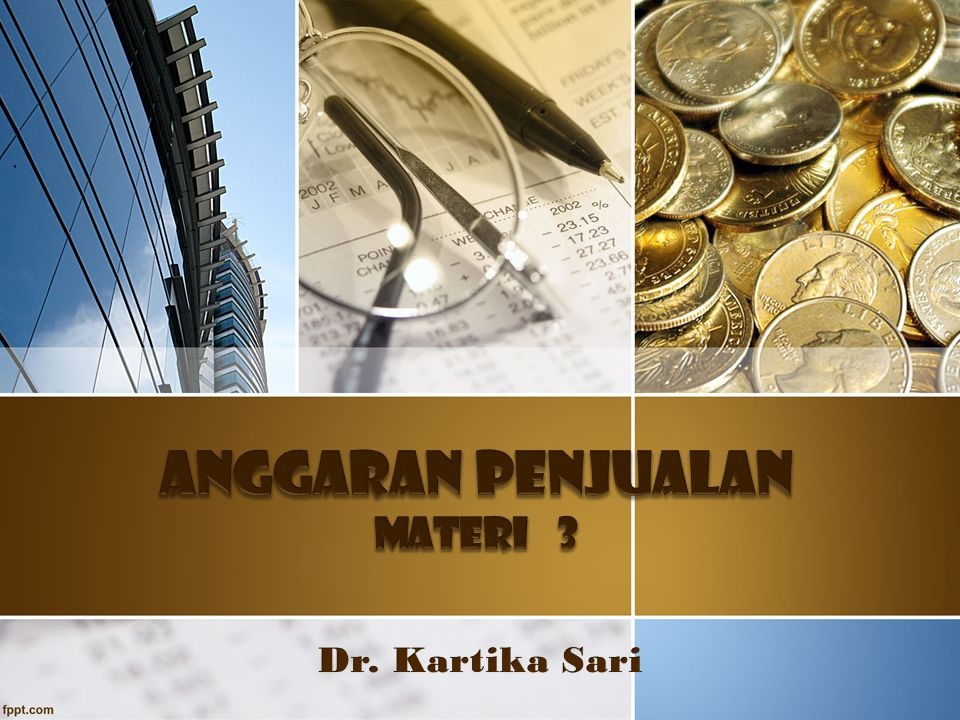 ANGGARAN PENJUALAN MATERI 3