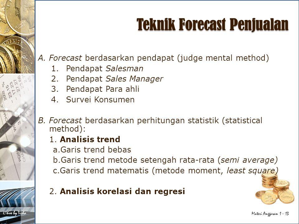 Teknik Forecast Penjualan