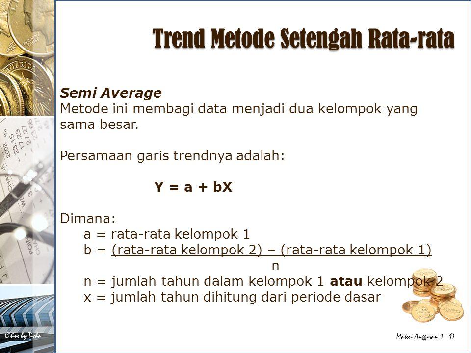Trend Metode Setengah Rata-rata