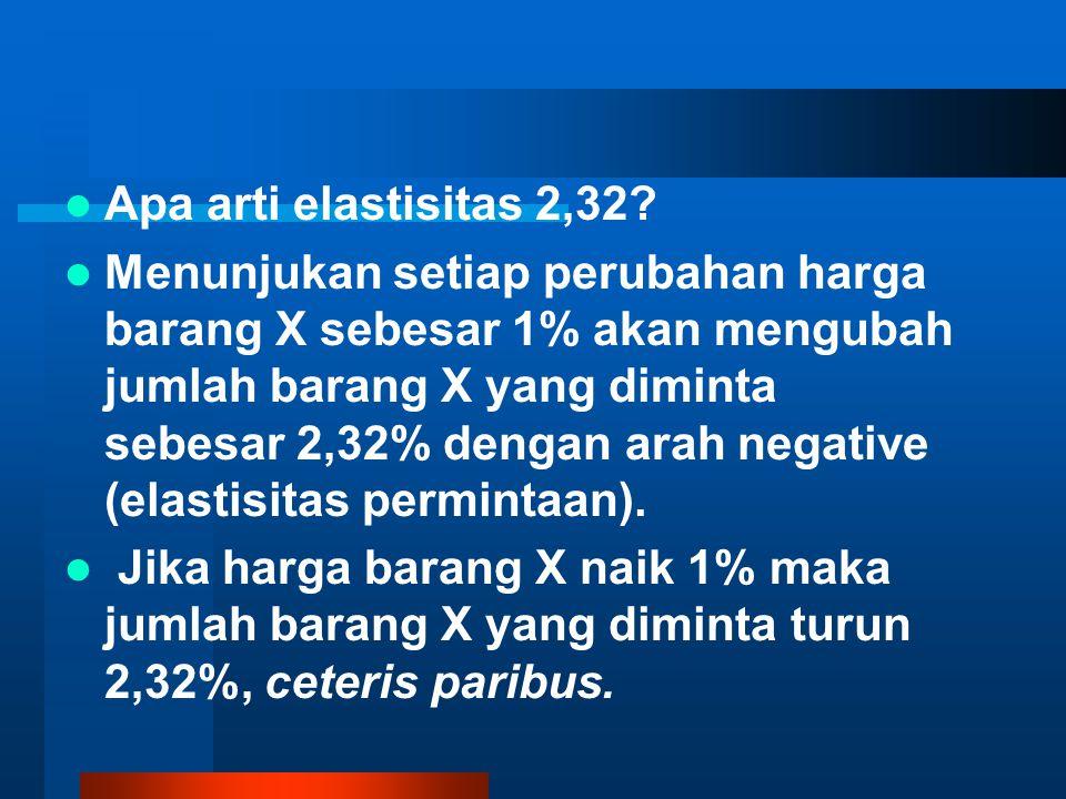 Apa arti elastisitas 2,32