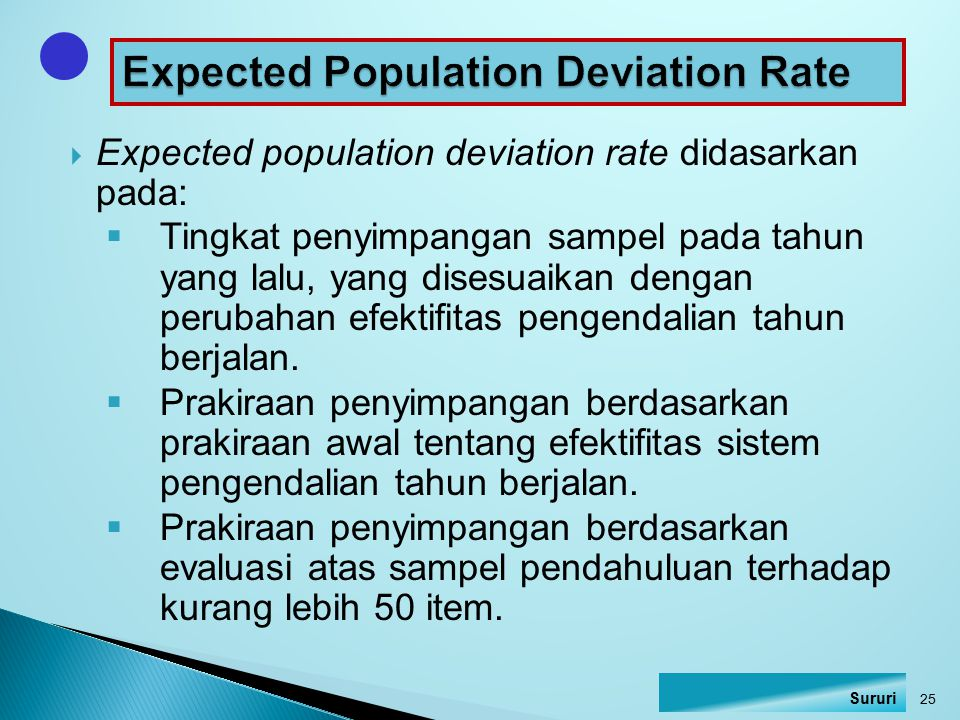 Expected Population Deviation Rate