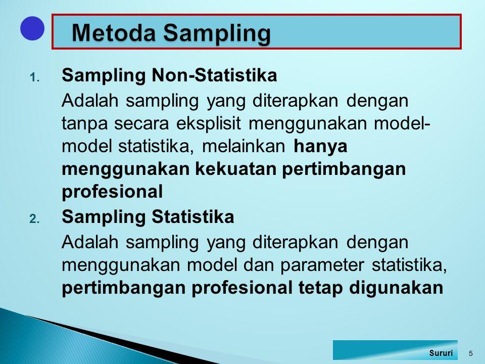 Metoda Sampling Sampling Non-Statistika