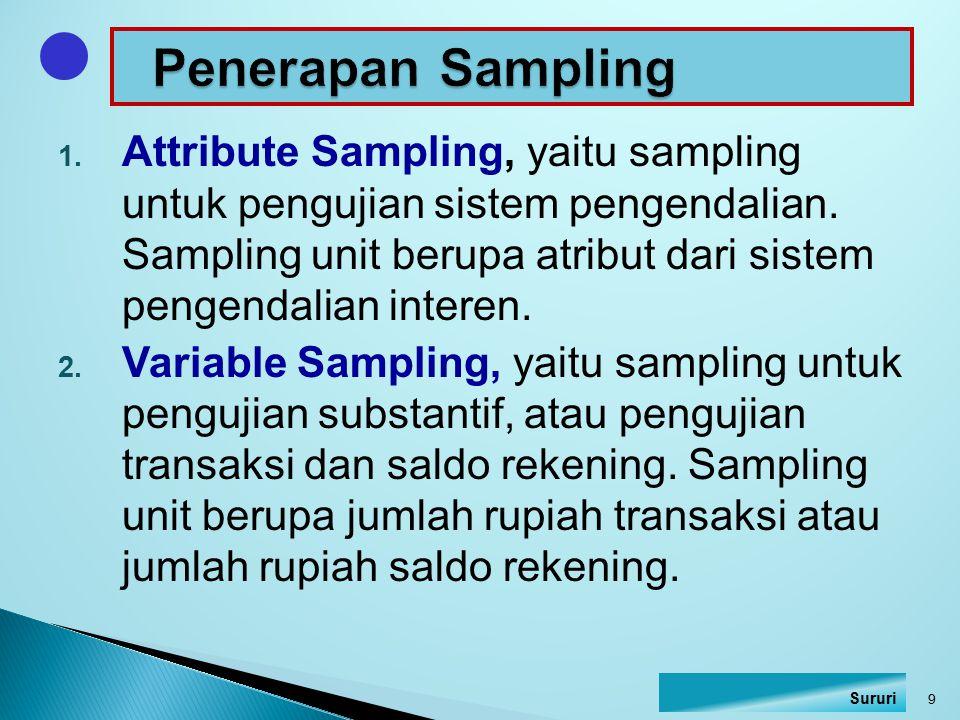 Penerapan Sampling