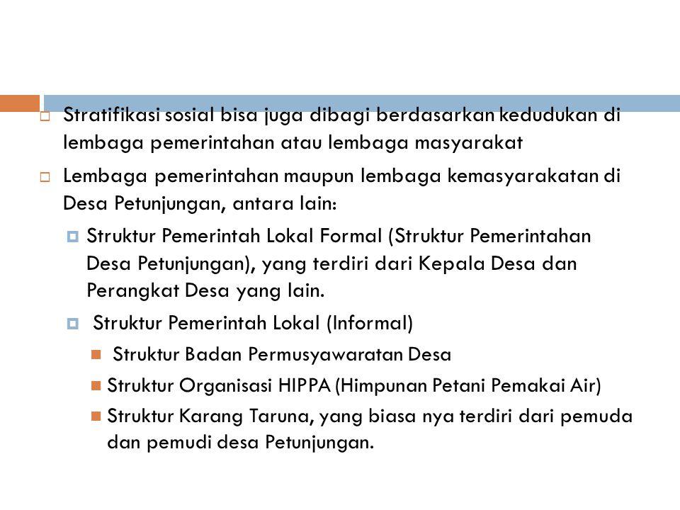 Struktur Pemerintah Lokal (Informal)