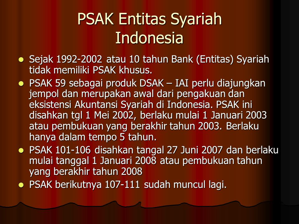 PSAK Entitas Syariah Indonesia