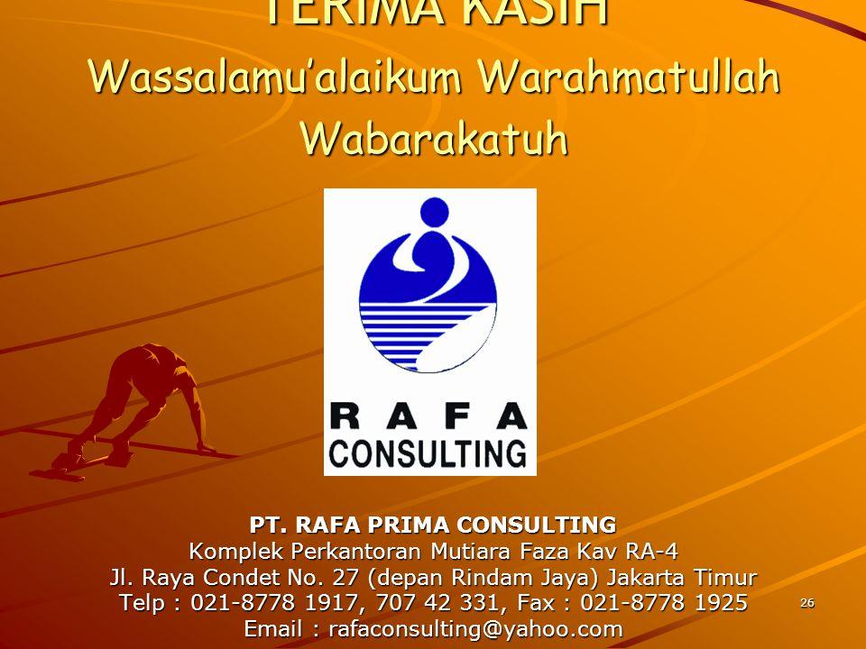 PT. RAFA PRIMA CONSULTING