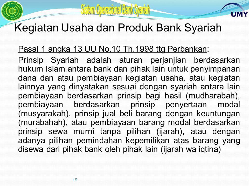 Kegiatan Usaha dan Produk Bank Syariah