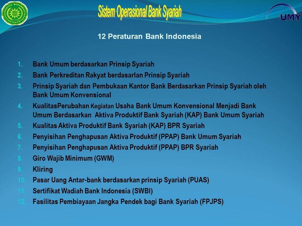 12 Peraturan Bank Indonesia