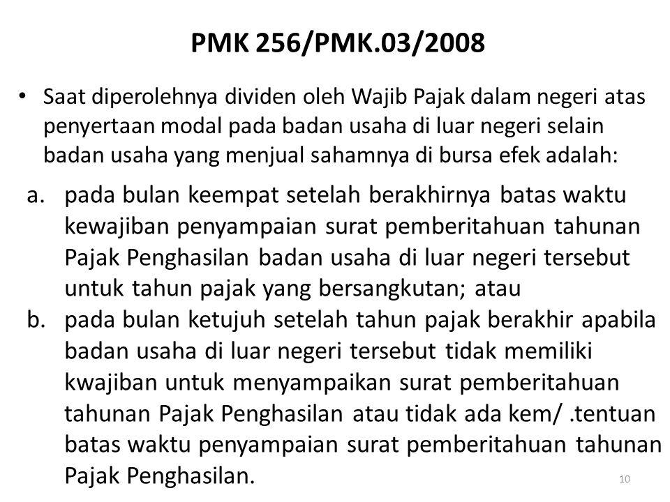 PMK 256/PMK.03/2008