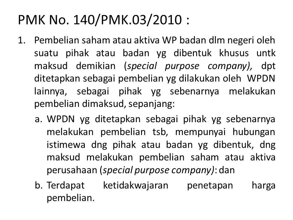 PMK No. 140/PMK.03/2010 :