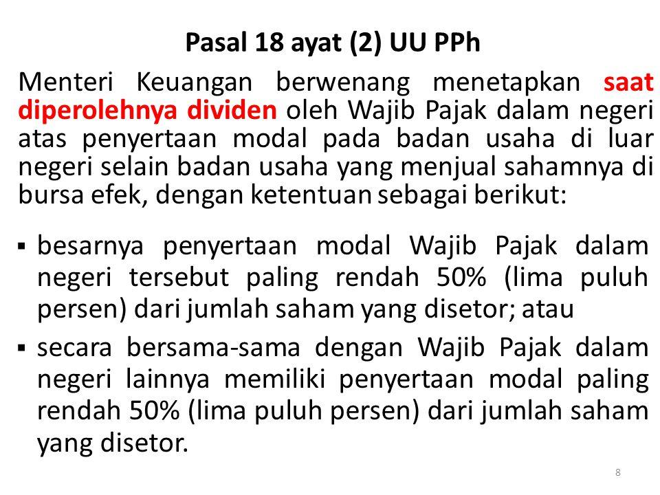 Pasal 18 ayat (2) UU PPh
