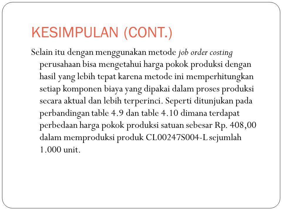 KESIMPULAN (CONT.)