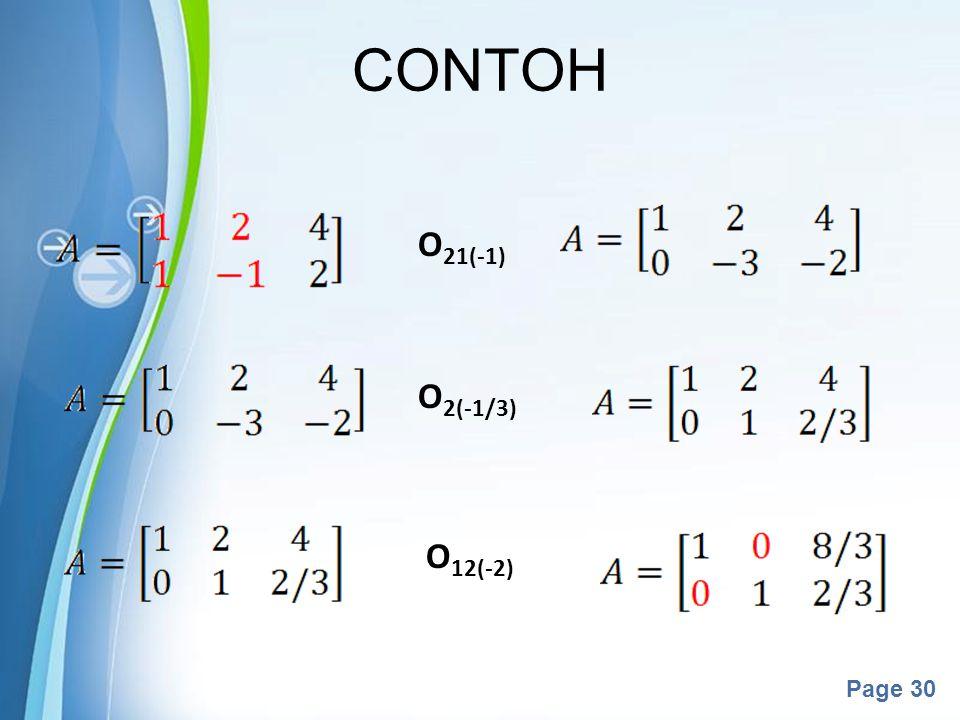 CONTOH O21(-1) O2(-1/3) O12(-2)
