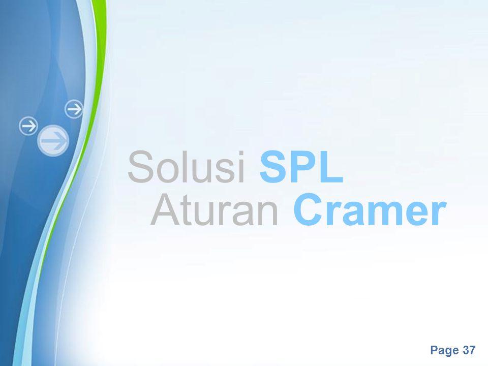 Solusi SPL Aturan Cramer