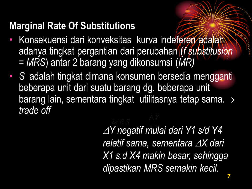 Marginal Rate Of Substitutions