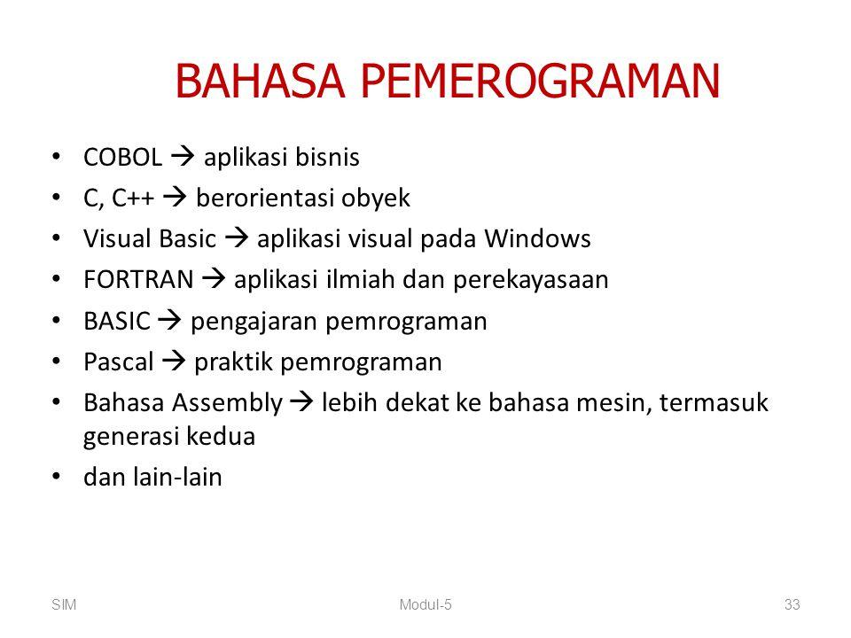BAHASA PEMEROGRAMAN COBOL  aplikasi bisnis