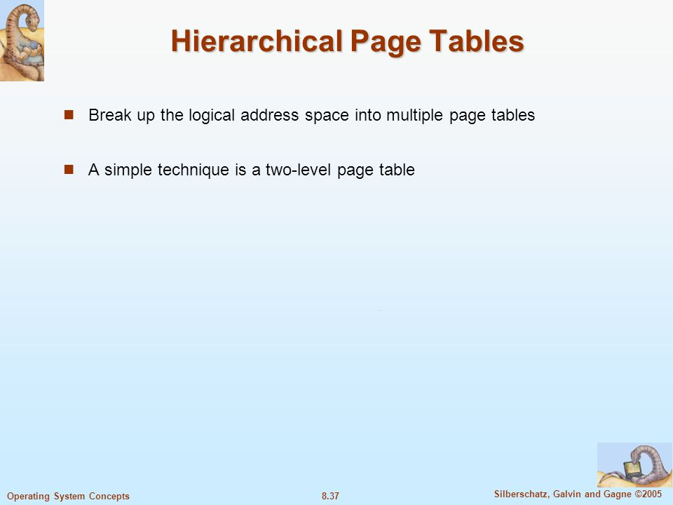 Hierarchical Page Tables