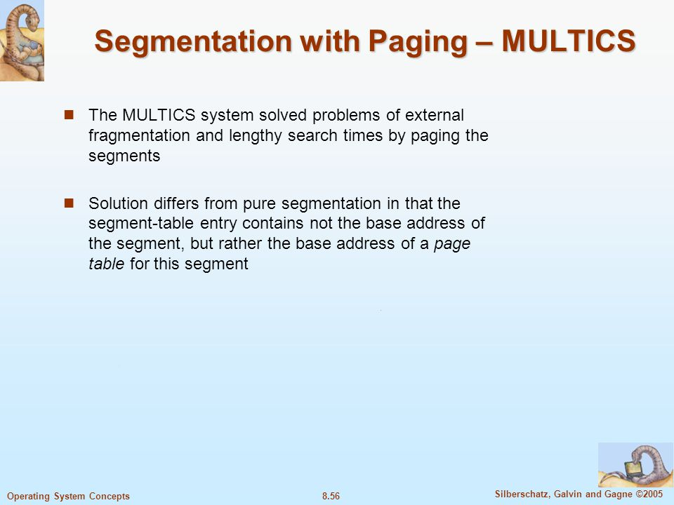 Segmentation with Paging – MULTICS