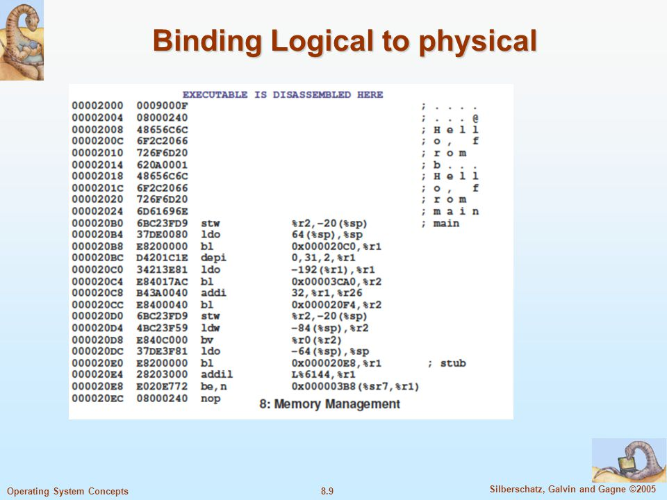 Binding Logical to physical