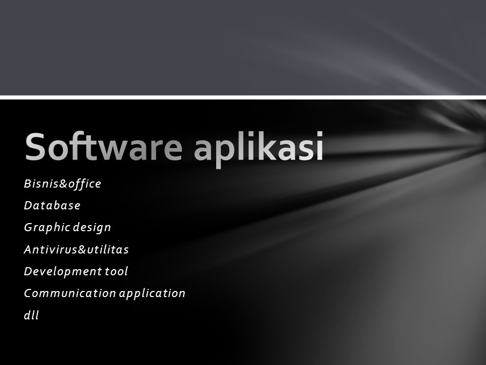 Software aplikasi Bisnis&office Database Graphic design
