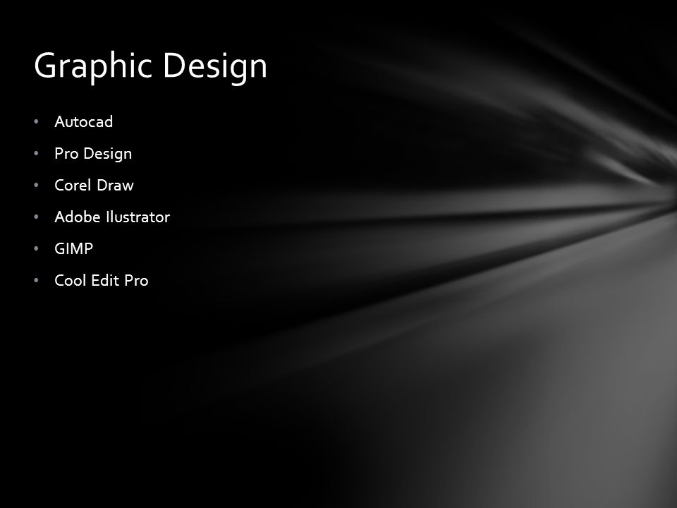 Graphic Design Autocad Pro Design Corel Draw Adobe Ilustrator GIMP