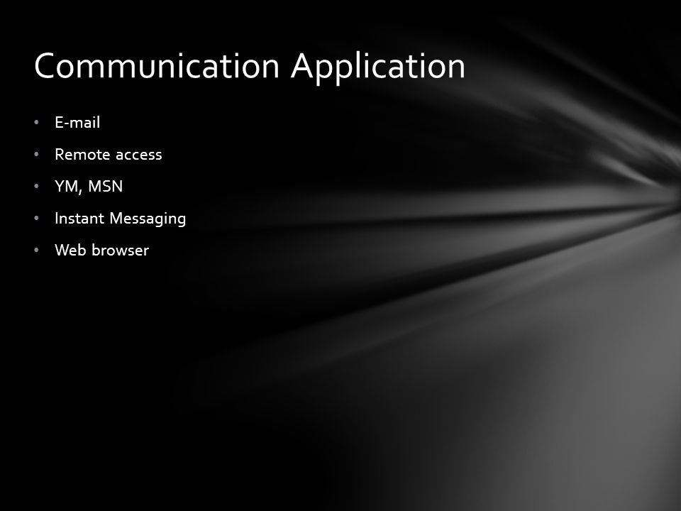 Communication Application