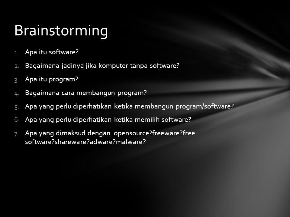 Brainstorming Apa itu software