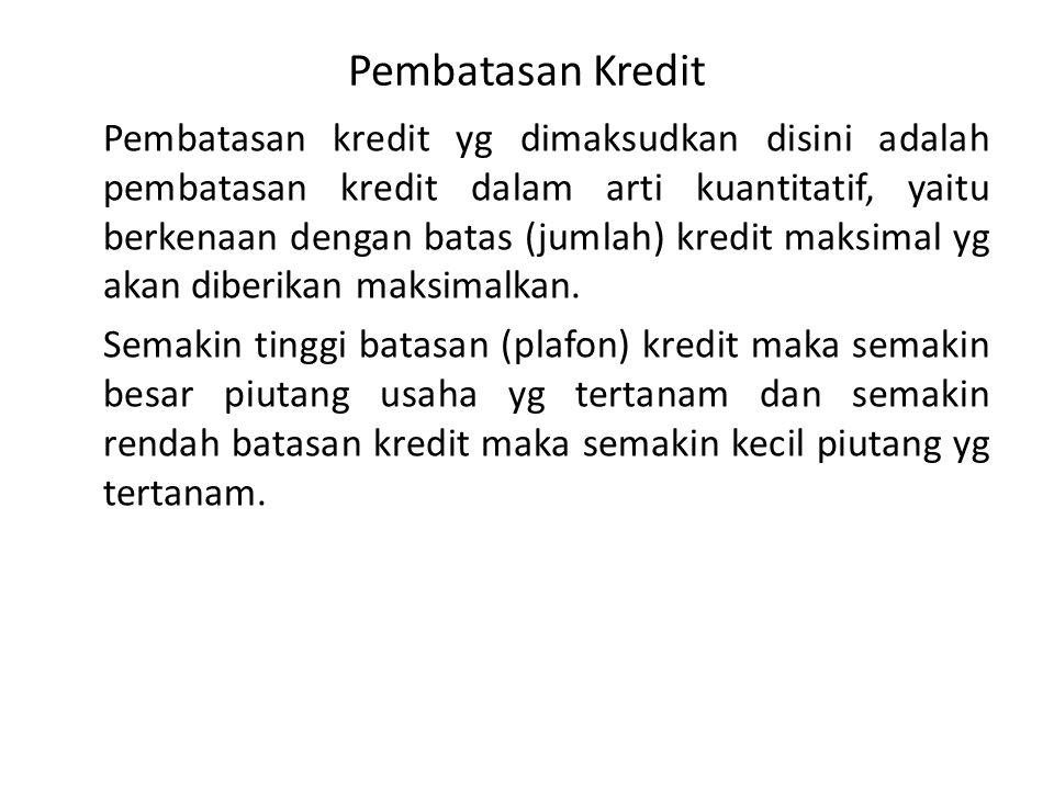 Pembatasan Kredit